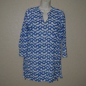 Sz S Roberta Roller Rabbit Blue White Tunic